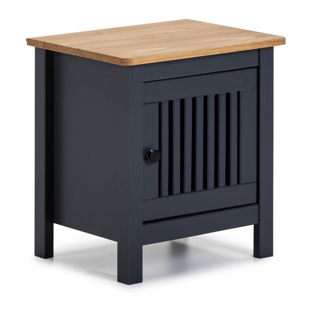 Szara drewniana szafka nocna Marckeric Bruna