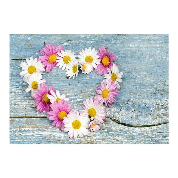 Dywan winylowy Flower Heart, 52x75 cm