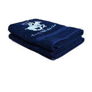 Zestaw 2 ciemnoniebieskich ręczników Beverly Hills Polo Club Brilliant, 60x110cm