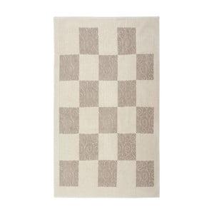Kremowy dywan bawełniany Floorist Check, 120x180cm