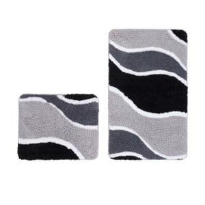Zestaw 2 dywaników łazienkowych Lift Silver