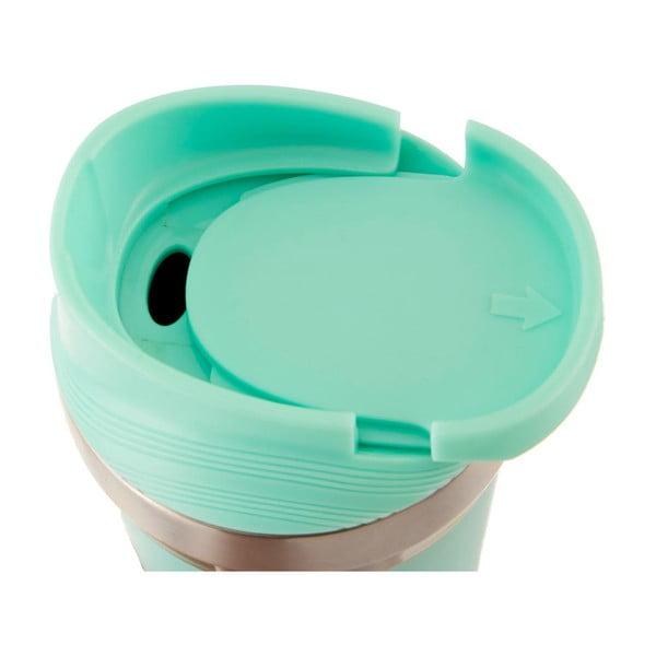 Miętowy podróżny kubek termiczny ze stali nierdzewnej Premier Housewares Mimo, 380 ml