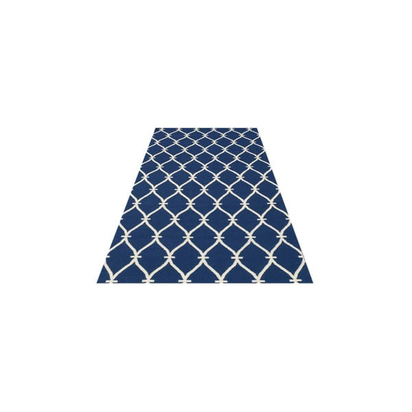 Ręcznie tkany dywan Kilim Belinda Dark Blue, 155x240 cm