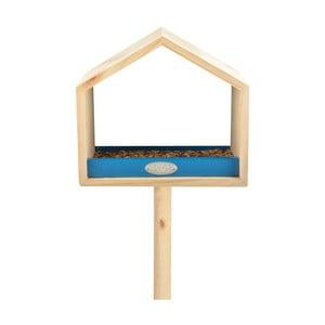 Karmnik z drewna sosnowego z niebieskim elementem Esschert Design, wys.111cm