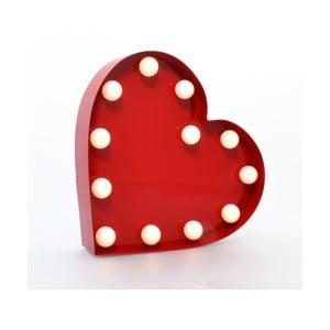 Światło dekoracyjne Carnival Heart, czerwone