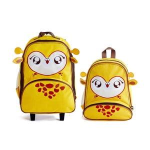 Dziecięcy plecak i walizka Żyrafa Gunter