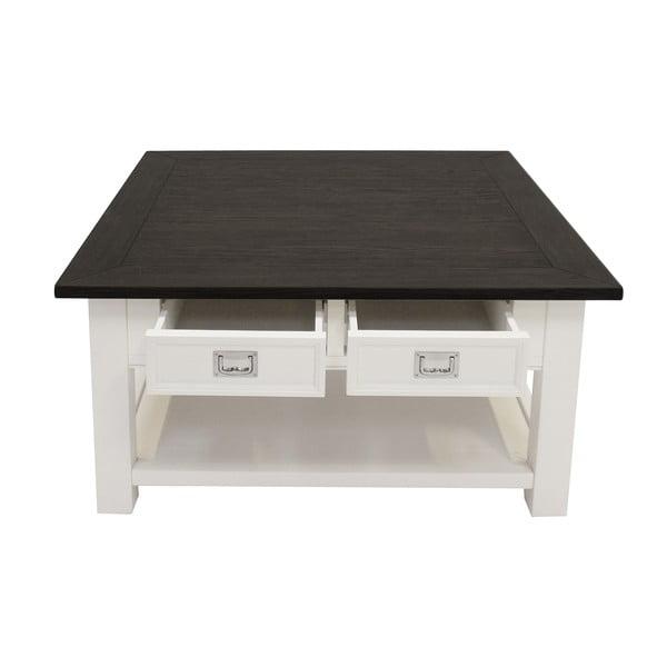 Biały stolik Canett Skagen, 4 szuflady