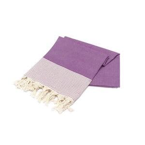 Fioletowy ręcznik Hammam Bal Petergi, 100x180cm