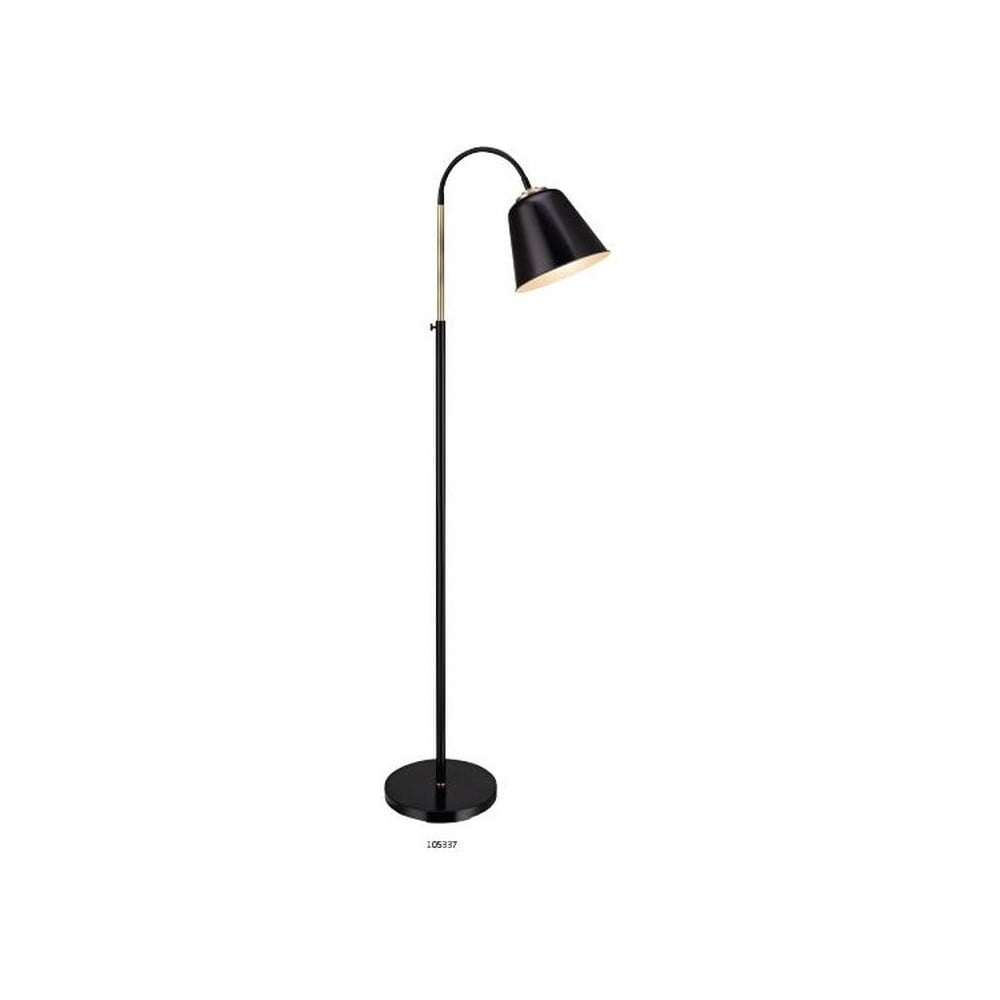 Czarna lampa stojąca Markslöjd Kolding