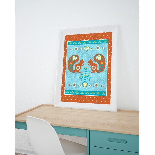Plakat Ruda wiewiórka, średni