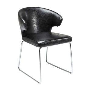 Czarne krzesło do jadalni Kare Design Atomic