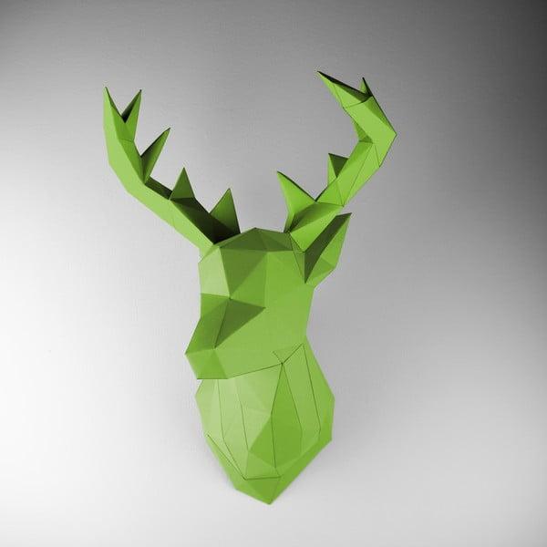 Papierowe poroże Jeleń, zielone