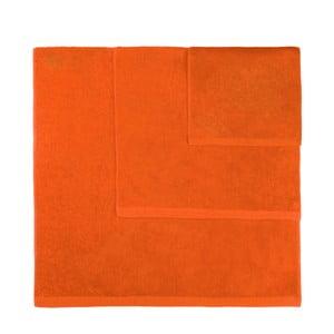 Komplet 3 pomarańczowych ręczników Artex Alfa