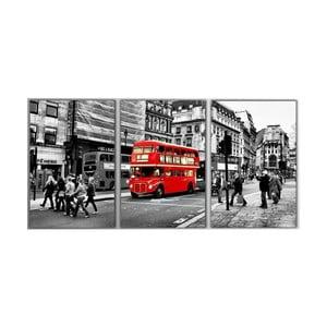 Trzyczęściowy obraz London, 45x90 cm