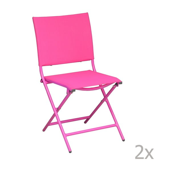 Zestaw 2 krzeseł ogrodowych Pieghevoli Framboise