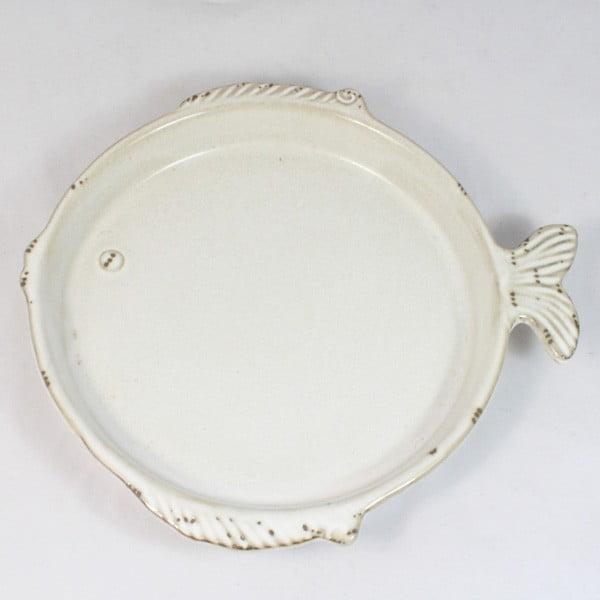 Ceramiczny talerz Ryba, 20x18,5 cm