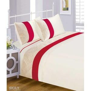Pościel Sicily Red, 135x200 cm