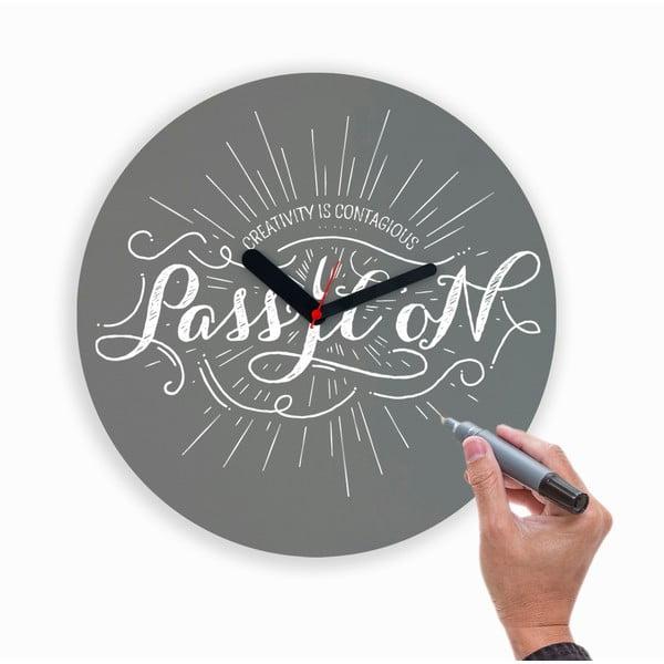 Zegar naścienny Draw Up Wall Grey