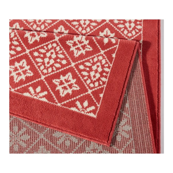 Czerwony dywan Hanse Home Gloria Tile, 80x200 cm