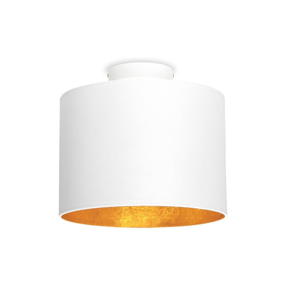 Biała lampa sufitowa z elementami w kolorze złota Sotto Luce MIKA, Ø 25 cm