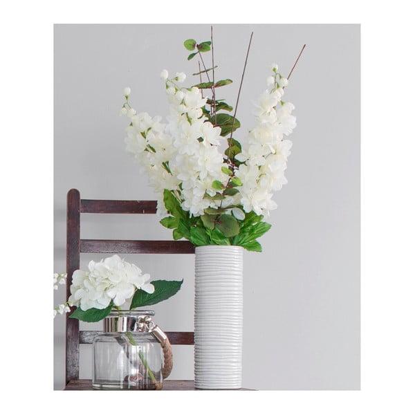 Ceramiczny wazon ze sztucznymi kwiatami Delphinium, 82 cm