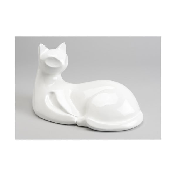 Dekoracja White Sitting Cat