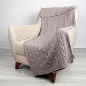 Beżowy koc bawełniany Homemania Couture, 170x130 cm