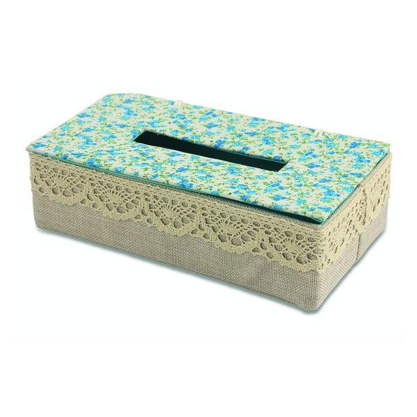Pudełko na chusteczki Flora Azzura
