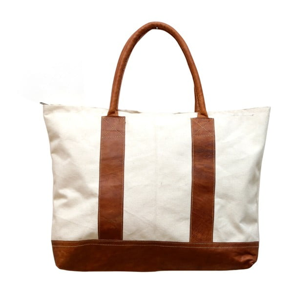 Torebka White and Brown Canvas