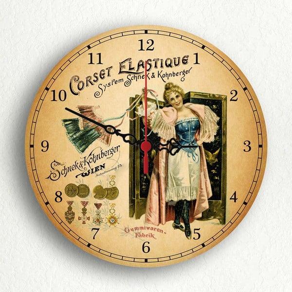 Zegar ścienny Corset Elastique, 30 cm