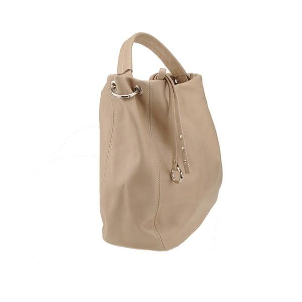 Skórzana torebka Agena, beżowa