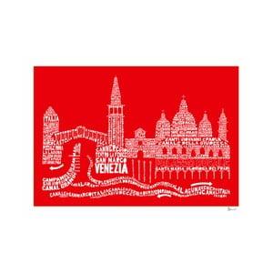 Plakat Venezia Red&White, 50x70 cm