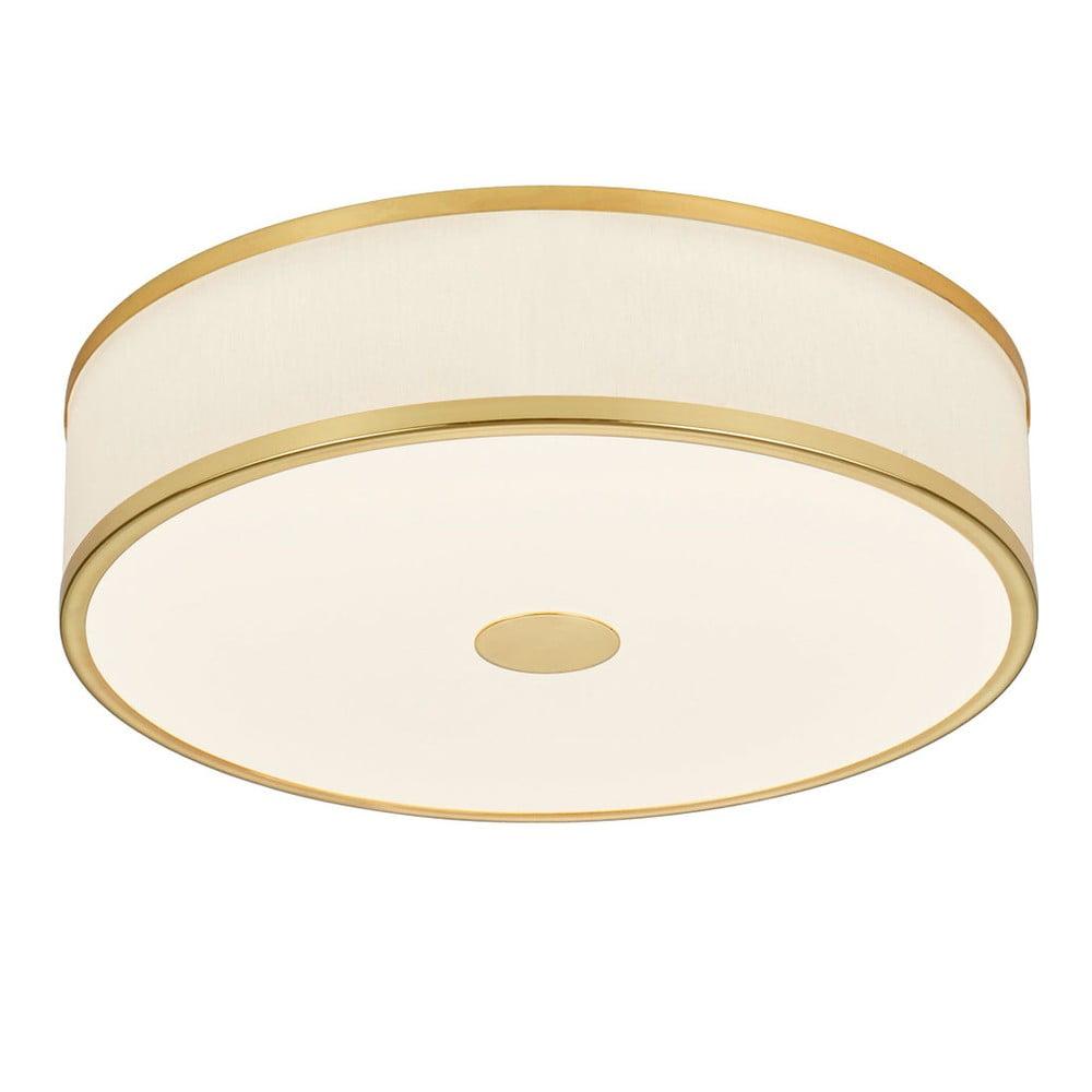 Lampa LED Trio Agento w złotym kolorze, ø 40 cm