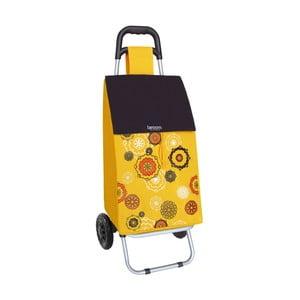 Torba na zakupy na kółkach Mandala Yellow, 45 l