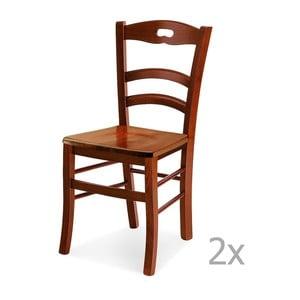 Zestaw 2 krzeseł drewnianych Castagnetti Noce