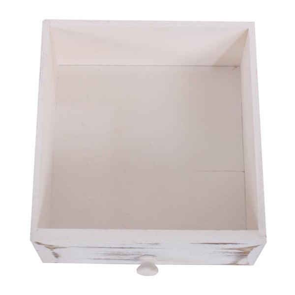 Biała komoda z 6 szufladami Mendler Shabby Chic
