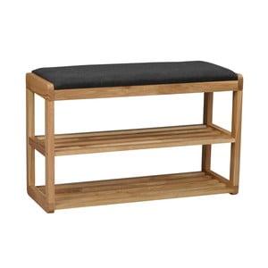 Dębowa ławka z półkami na buty Rowico Gorges