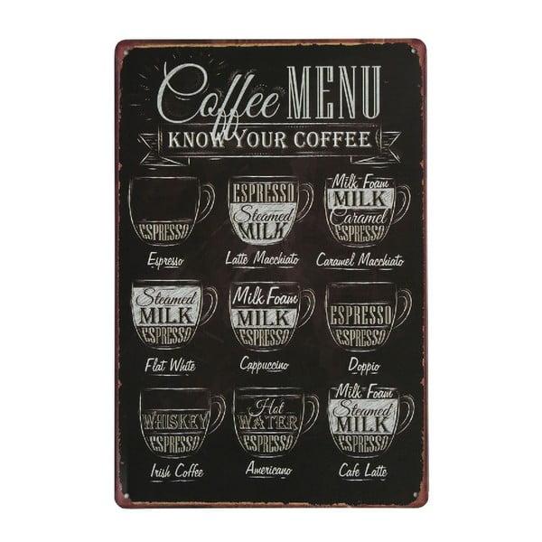 Tablica Coffee Menu, 20x30 cm