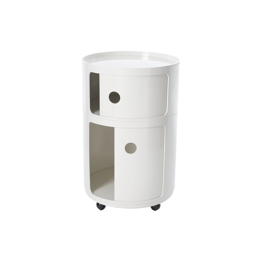 bia a szafka na k eczkach z 2 szufladami kartell. Black Bedroom Furniture Sets. Home Design Ideas