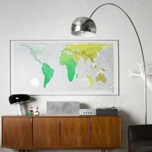 Mapa świata Huge Future Map, 196x100 cm, zielona