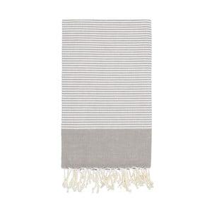 Ręcznik hammam Side Grey, 100x180 cm