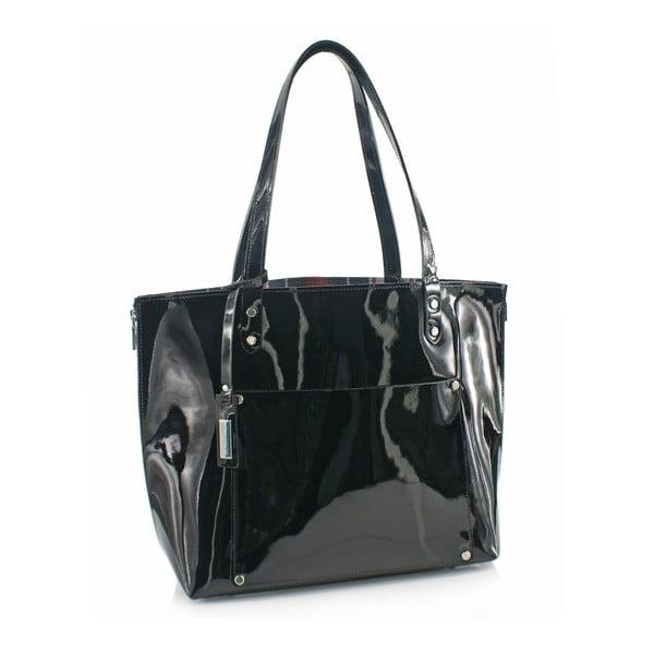 Skórzana torebka Boscollo Black 3468