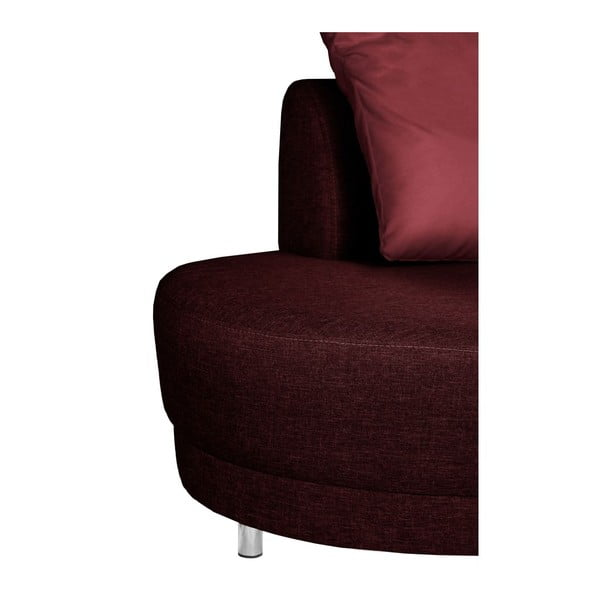 Sofa trzyosobowa z oparciem po prawej stronie Florenzzi Viotti Red/Light Grey