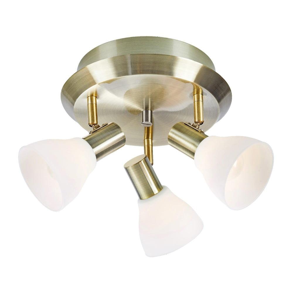Biała lampa wisząca z detalem w kolorze złota Markslöjd Vero, ø 33 cm