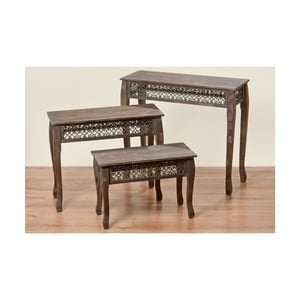 Komplet 3 stolików Amira
