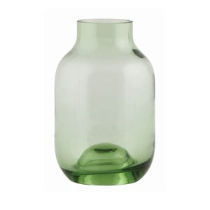 Wazon Green Glass, 14x9