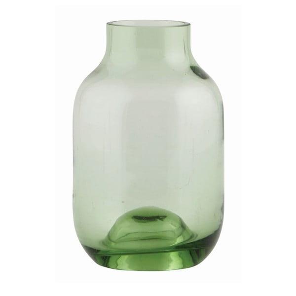 Wazon Green Glass, 14x9