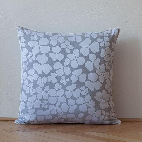Poduszka z wypełnieniem Light Grey Flowers, 50x50 cm