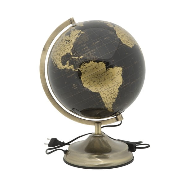 Lampa stołowa w kształcie globusu Mauro Ferretti Globe Bronze, ø 25 cm