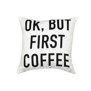 Poduszka Fisura But First Coffee, 40x40 cm